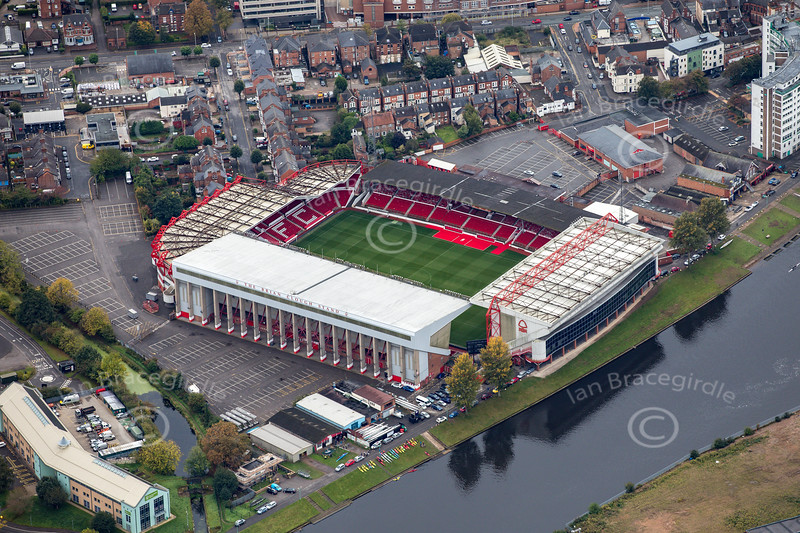 Aerial photo of The County Ground.