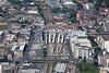 Aerial photo of Nottingham Railway Station.
