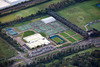 Aerial photo of Nottingham Tennis Centre.