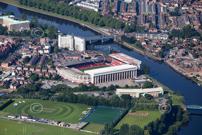 Aerial photo of Nottingham Forest.