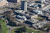 The University of Nottingham Science and Engineering Library from the air.