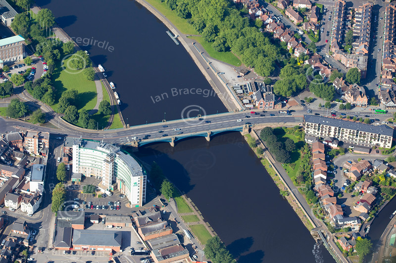 Aerial photo of Trent Bridge.