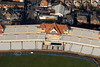 Trent Bridge cricket ground stand in Nottingham from the air.