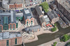 Nottingham Waterside area from the air.