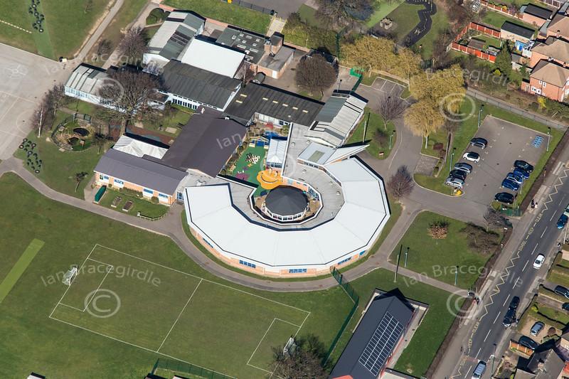 Fernwood School in Nottingham from the air.