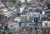 Aerial photo of Nottingham City Centre.