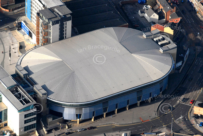 Nottingham Arena from the air.