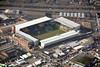 Notts County Football Club in Nottingham from the air.
