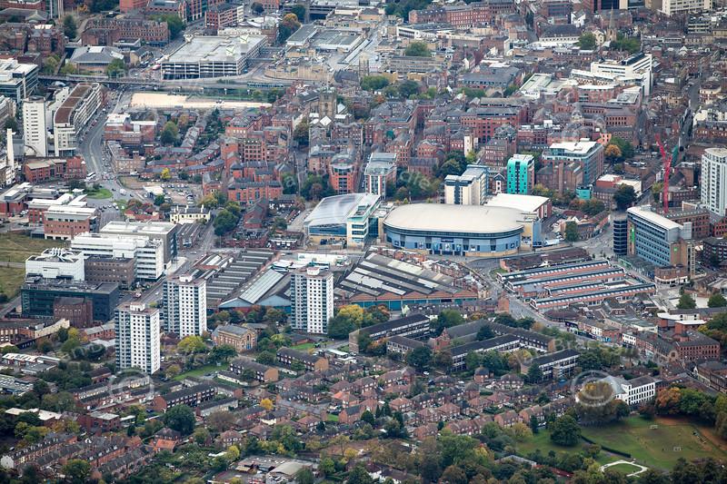 Aerial photo of Sneinton.
