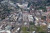 Aerial photo of Nottingham Railway Station.