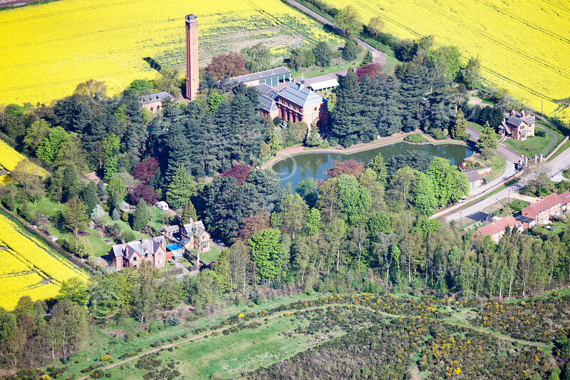 Papplewick Pumping Station aerial photo.