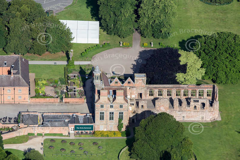Aerial photo of Rufford Abbey-51