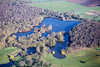 Rufford Lake from the air.
