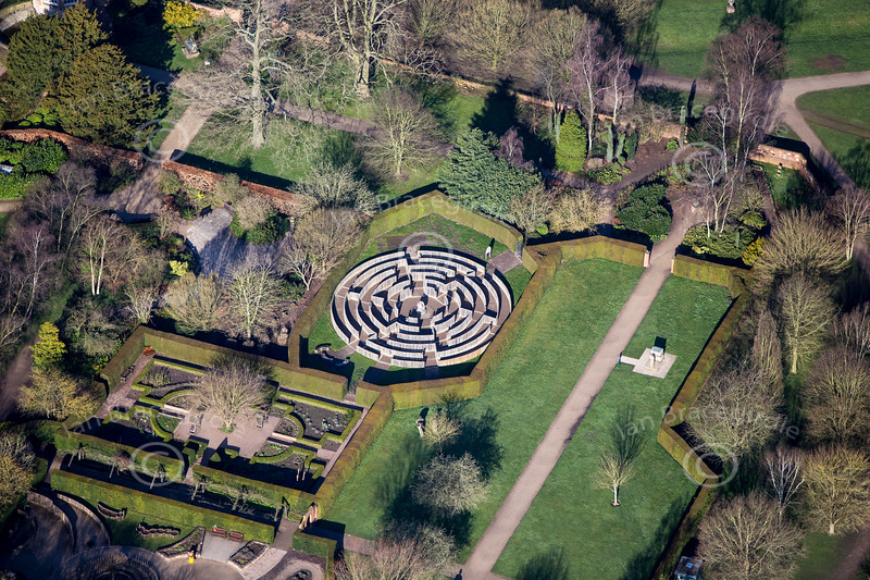 Aerial photo of Rufford Maze in Nottinghamshire.