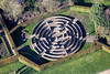 Rufford Maze from the air.
