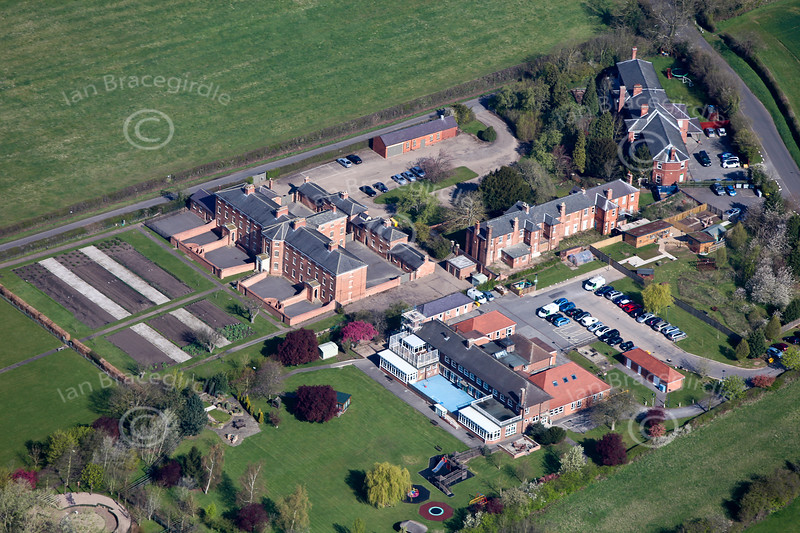 Southwell Workhouse from the air.