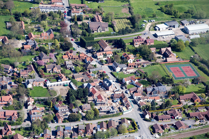 Aslockton from the air.