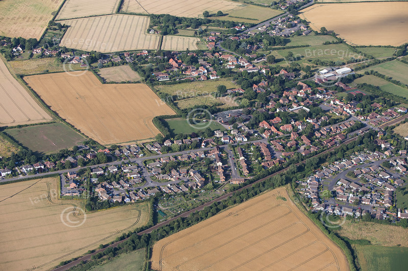 Aerial photos of Aslockton in Nottinghamshire.
