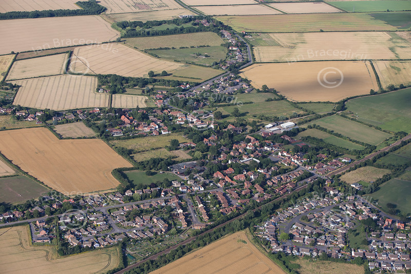 Aerial photo of Aslockton in Nottinghamshire.