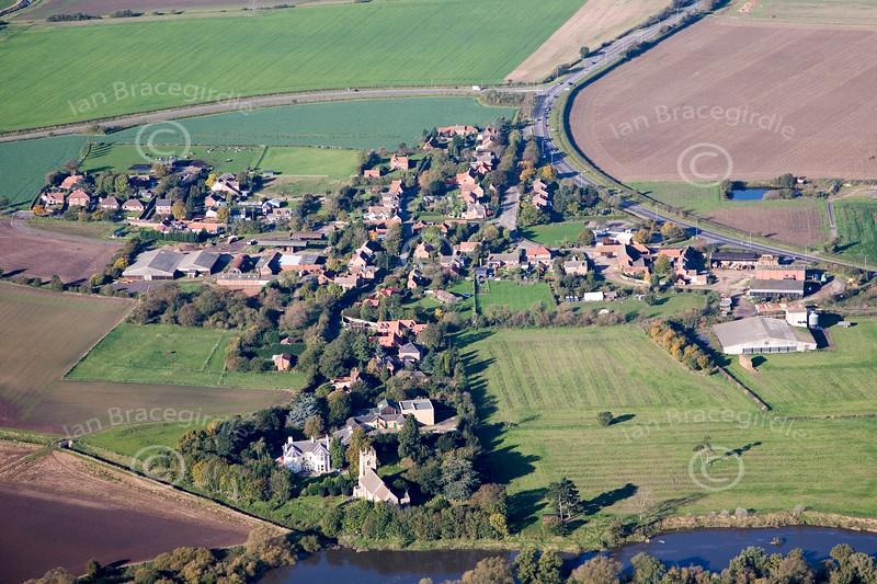 Aerial photo of Averham
