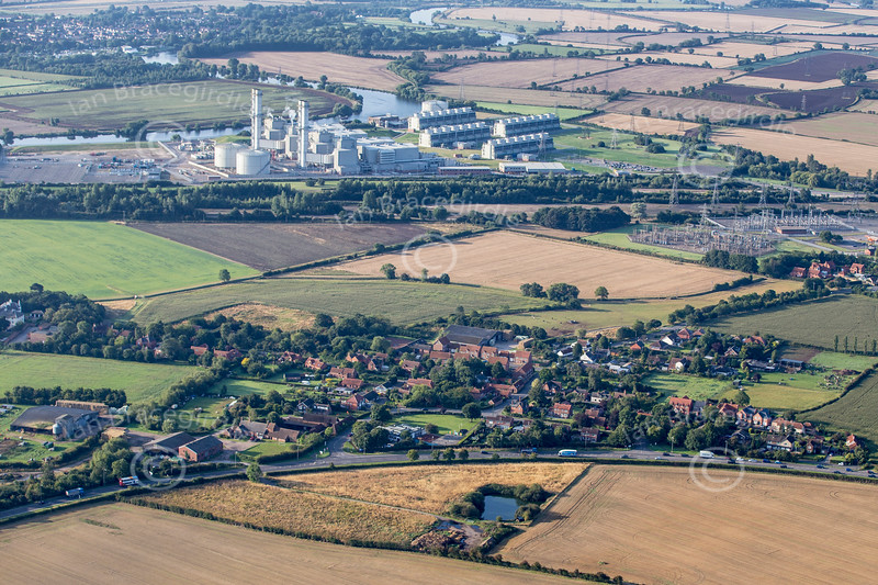 Aerial photo of Averham in Nottinghamshire