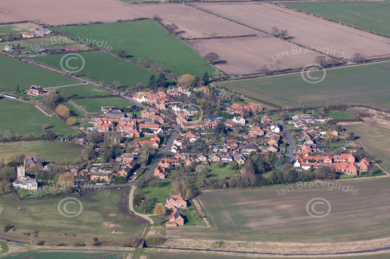 Aerial photo of Barnby in the Willows.