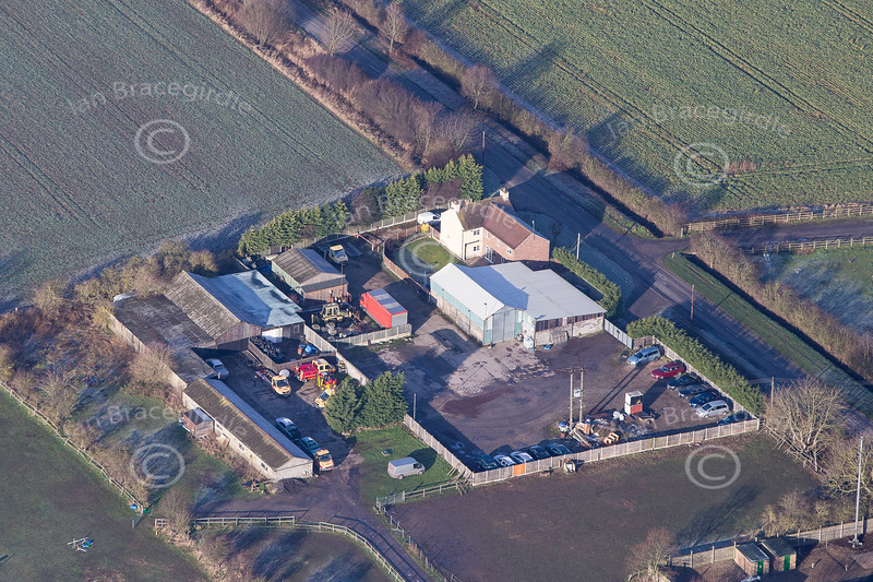 Aerial photo of Barnby in the Willows