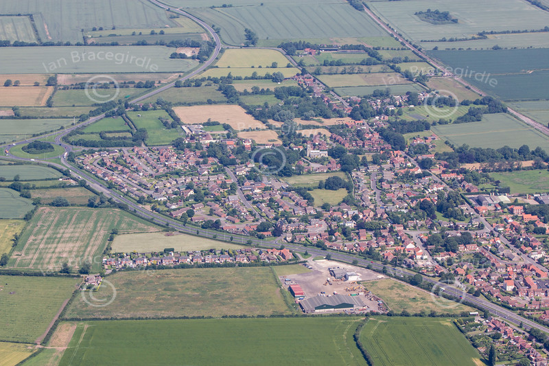 Aerial photo of Beckingham.