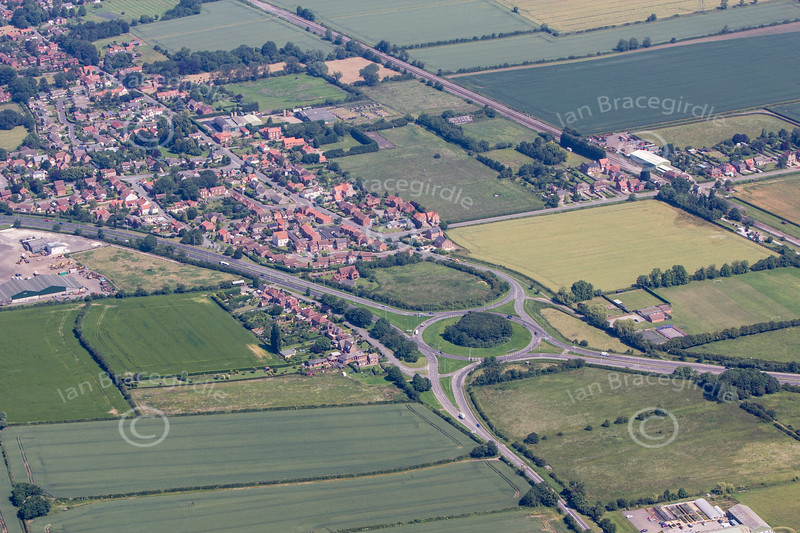 An aerial photo of Beckingham.