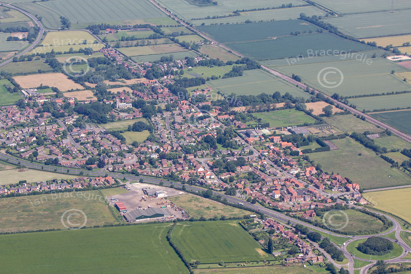 An aerial photo of Beckingham.
