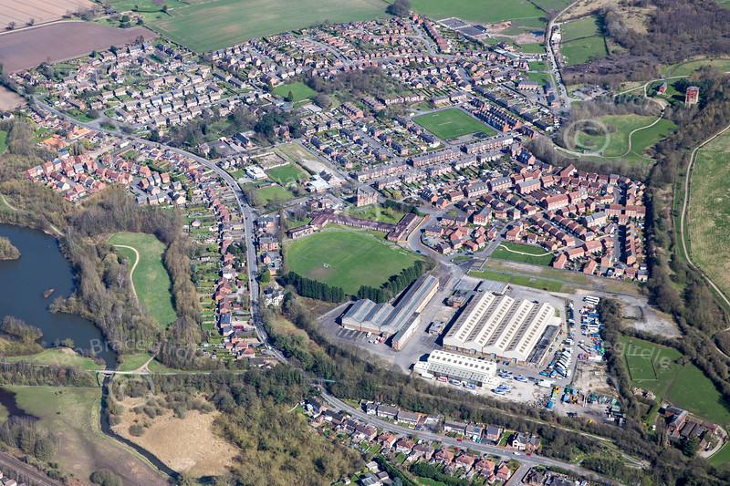 Aerial photo of Bestwood Village.
