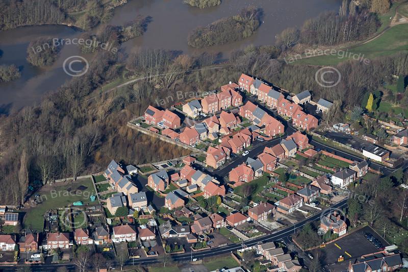 Aerial photos of Bestwood Village.