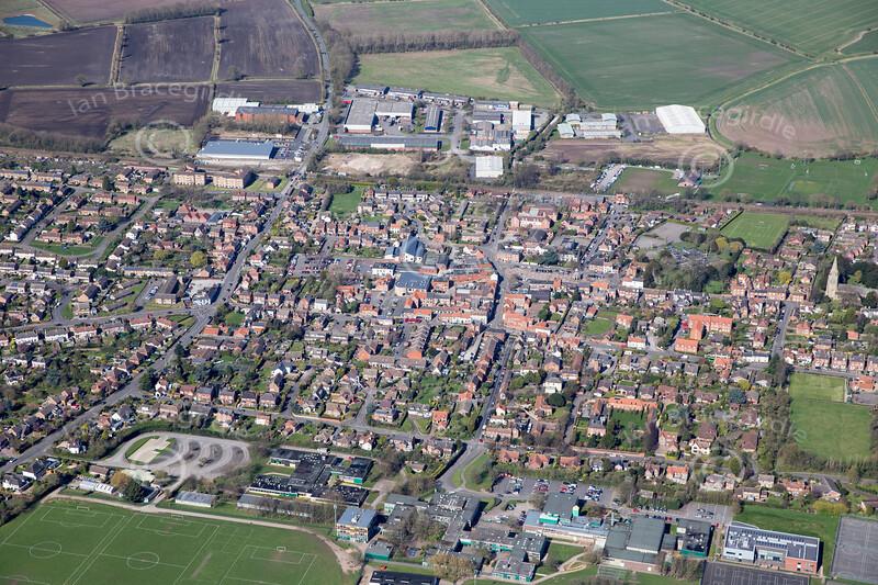 Aerial photo of Bingham.