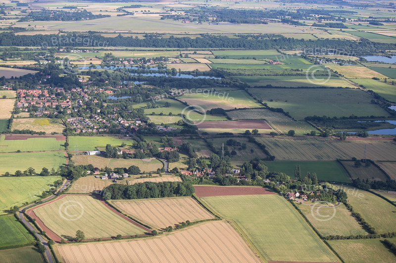 Aerial photo of Goverton.