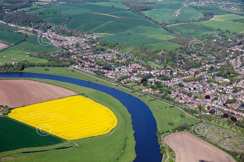 Aerial photo of Burton Joyce.