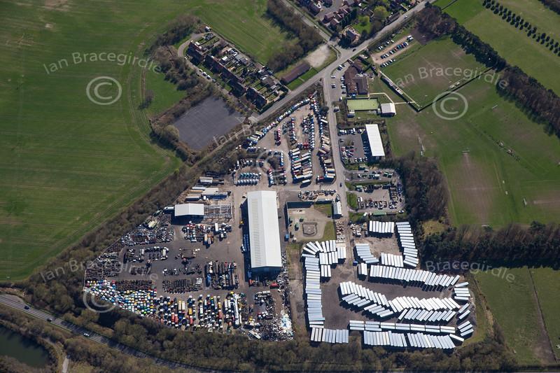 Aerial photo of Calverton.
