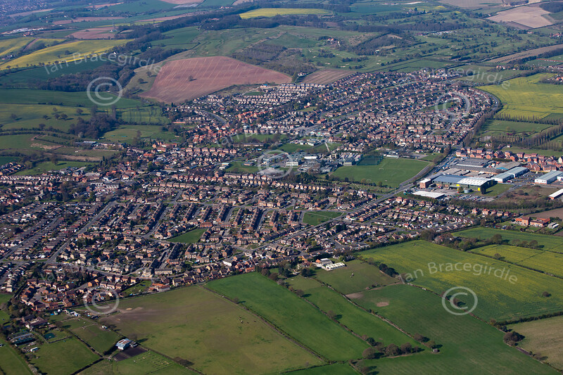 Aerial photo of Calverton.