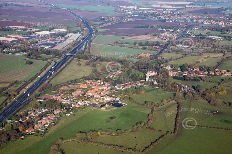 Aerial photo of Carlton on Trent.