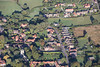 An aerial photo of Caunton village in Nottinghamshire.