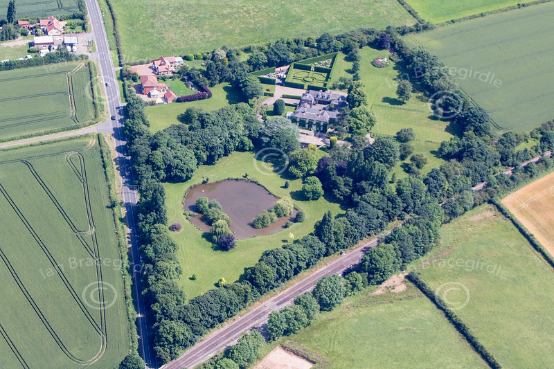 Aerial photo of Clarborough.