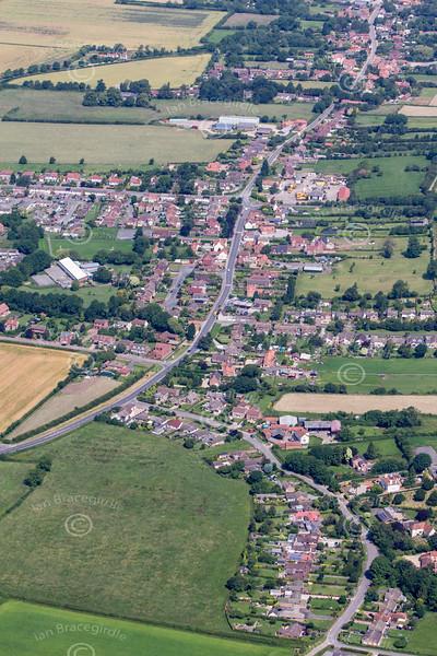 Aerial photo of Clarborough.