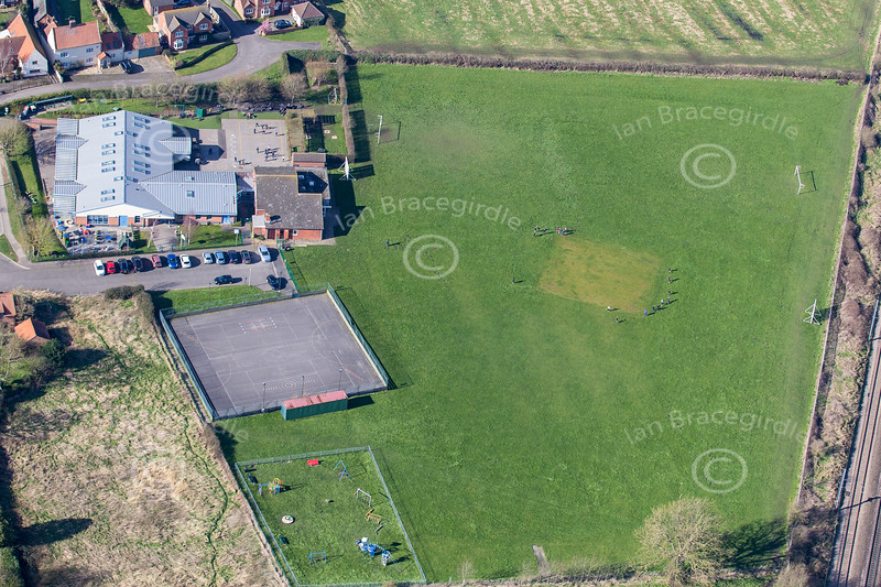 Aerial photo of Claypole School-2