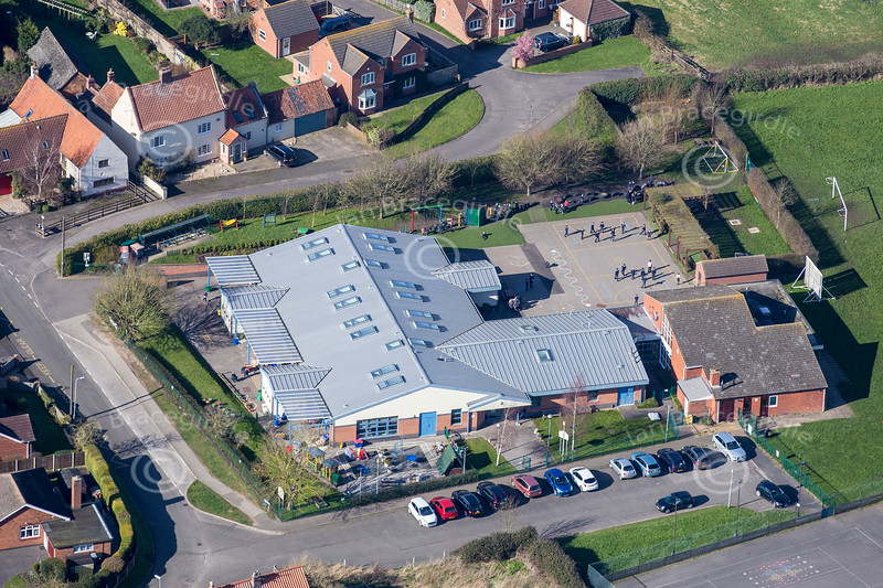 Aerial photo of Claypole School-1