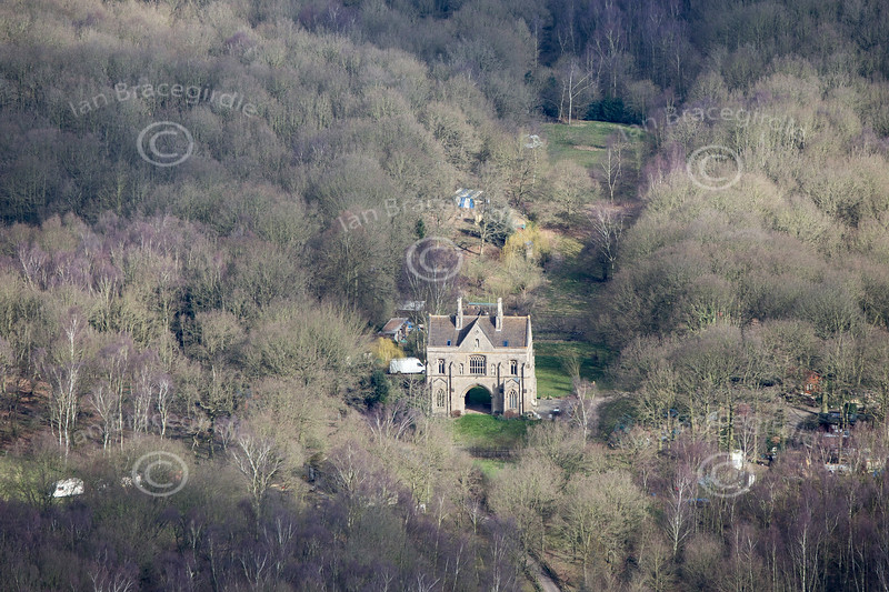 Archway House from the air.