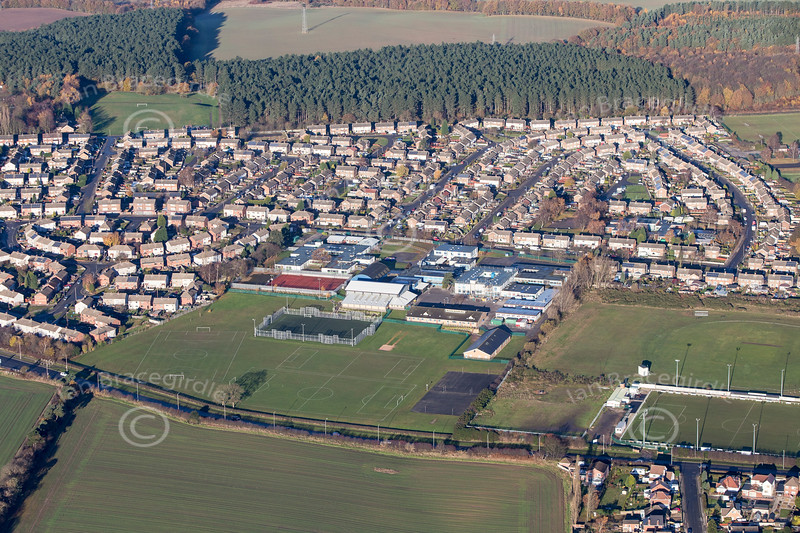 Aerial photo of Clipstone.