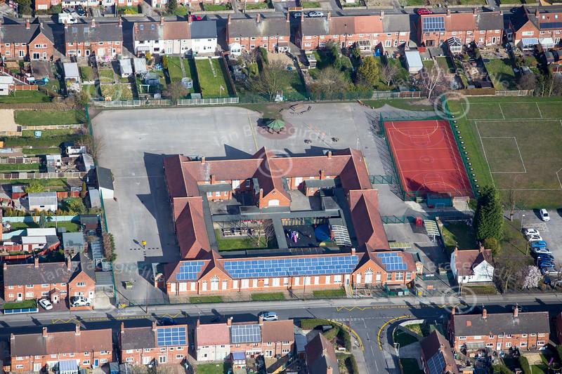 Aerial photo of Clipstone.