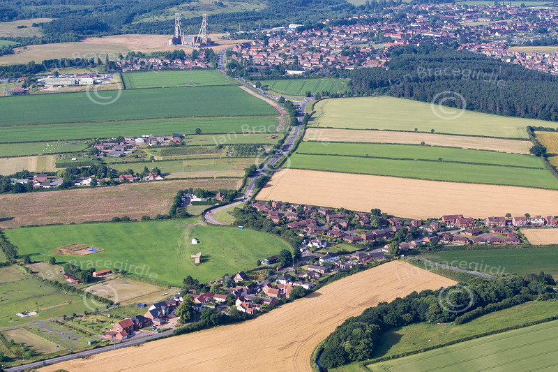Aerial photo of Kings Clipstone.