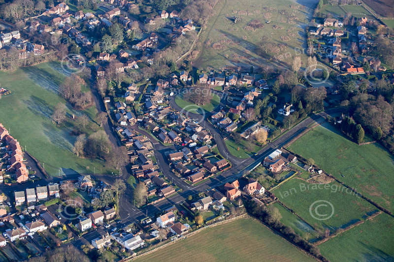 Aerial photo of Coddington.