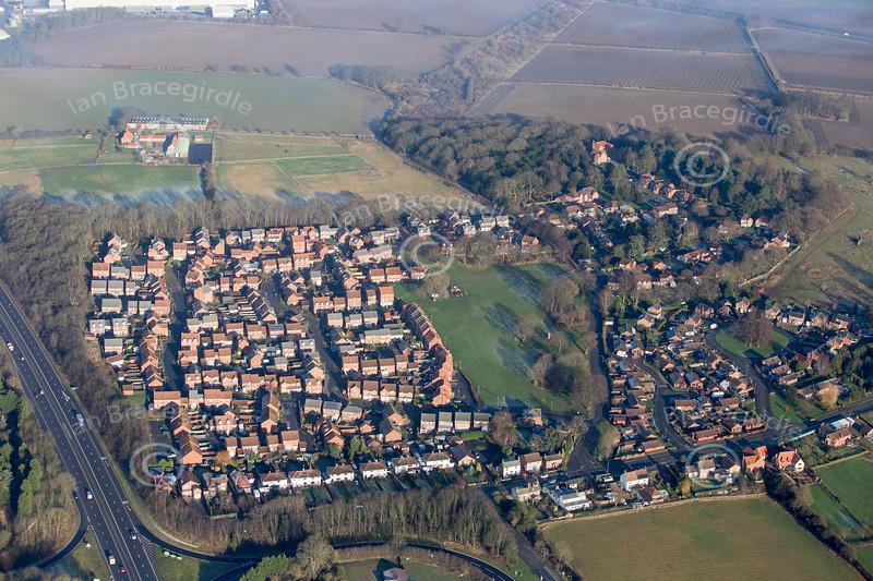 Aerial photo of Coddington.