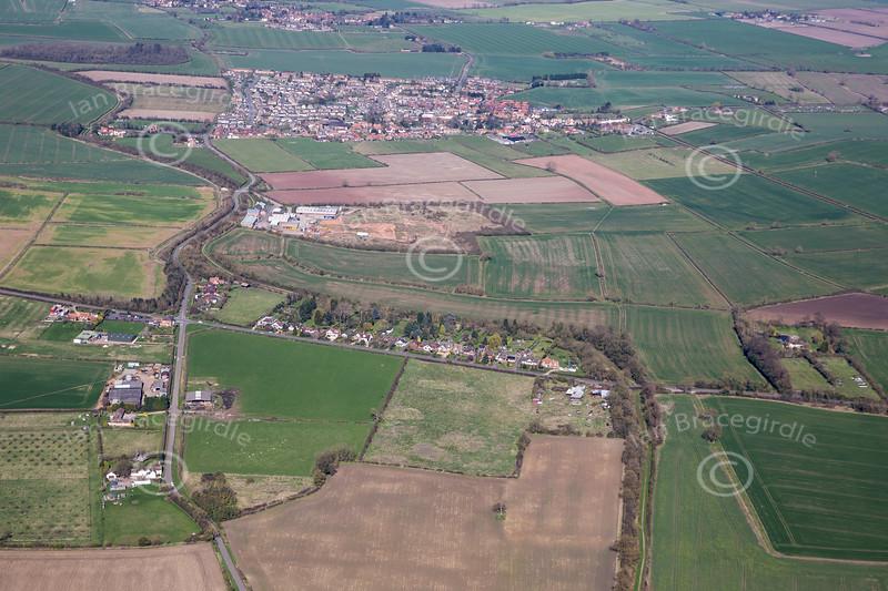 Aerial photo of Colston Bridge.